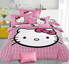 SinghsVillas Decor Hello Kitty King Size Cotton Double Bedsheet 2 Pillow Cover