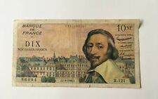 Billet 10 Nouveaux Francs Richelieu 1960