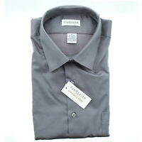 Van Heusen Mens Stretch Wrinkle Free Dress Shirt, 13V021 Charcoal Grey XL