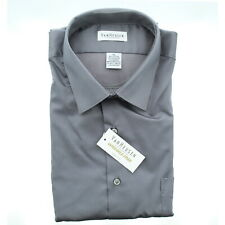Van Heusen Mens Stretch Wrinkle Dress Shirt 13v021 Charcoal Grey XL