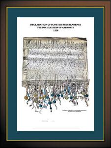 THE DECLARATION OF ARBROATH CERTIFIED EDITION FINE ART PRINT