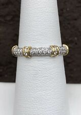 18K TWO TONE PAVE' DIAMOND ETERNITY BAND
