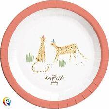 Safari Paper Plates 23cm 8CT