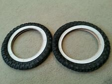 TWO(2) VEE  RUBBER BICYCLE TIRES 12  1/2 X 2  1/4 WHITE WALLS  (62-203 ) 40 PSI