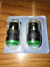IDEC AP6M Panel Mount Indicator LED Green, 24V, Set of 2, New
