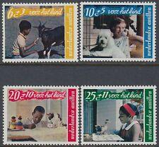 Niederl. Antillen 1968 ** Mi.193/97 Kinder Children Tiere Animals [st0694]