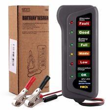Tester Tester Universale 12V Batteria Alternatore Auto Moto & 6 LED Indicatore