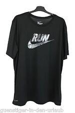 Nike DRI FIT Herren T Shirt Fitness Sport Shirt schwarz XL