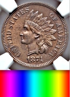 1874 NGC PR63 Mintage 700 RARE Undervalued PROOF Indian Head Cent Uber-Choice 1c