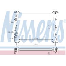 Kühler Motorkühlung - Nissens 639371