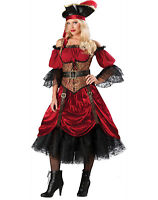 Elite Swashbuckler Swashbucklin'S Scarlet Buccaneer Pirate Fancy Costume