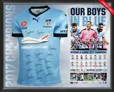 SYDNEY FC 2017 SIGNED JERSEY FRAMED A LEAGUE CHAMPIONS LIMITED EDITION