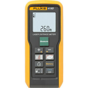 Fluke 419D *Fact. Recond.* Laser Distance Meter - 80M/260Ft Max