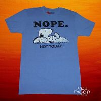 New Peanuts Charlie Brown Snoopy Nope Not Today Men's T-Shirt