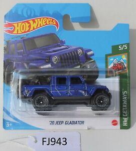 Hot wheels HW Getaways '20 Jeep Gladiator Blue 5/5 SC FNQHotwheels FJ943