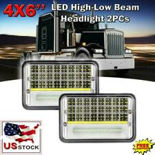 2PC 4x6'' 150W Led Headlights Hi-Lo Sealed Beam for Peterbilt Kenworth T800 W900