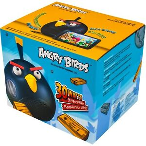 Angry Birds Stereo Speaker iPod iPhone iPad Compatible Aux Cable 30 Watts Black
