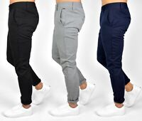 Only & Sons Mens Slim Fit Tapered Stretch Flat-Front Trousers, BNWT