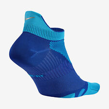 NIKE ELITE Lightweight No-Show Tab Running Socks SX4952-414 (4-5.5) Game Royal