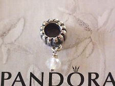 Authentic Pandora Silver Birthstone Charms 790166BK Apil - Rock Crystal + Gift