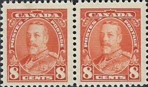 Canada  # 222  Pair   KING GEORGE V PICTORIALS ISSUE    New 1935 Pristine Gum