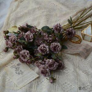 Retro Rose Artificial Flower Wedding Party Home Decoration Fake Flowers