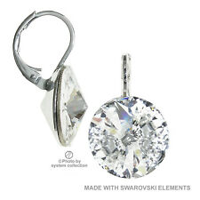 14 mm Earring with Swarovski Elements, Colour: Transparent