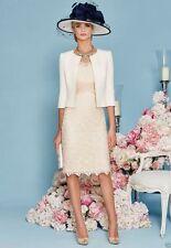 Champagne mère de la robe de mariée mariage invités Robe Libre Veste Parti Robes