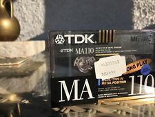 TDK MA110 Metal Brandneu Cassette Kassette Audiocassette