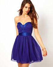 Elise Ryan Bandeau Skater Prom Party Dress with Plunge Neck UK 10