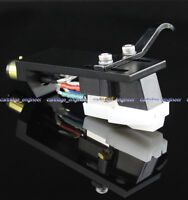 New10pcs/lot stereo MM cartridge silver wire CNC black Headshell HM6S6B assembly