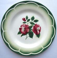 Assiette plate Digoin Sarreguemines modèle Mireille: Eglantines rouges 2/6