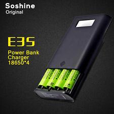 Original Soshine E3S USB Port LCD Mobile Power Bank 4×18650 Battery Charger