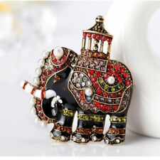 Enamel Rhinestone Animal Shape Garment Accessories Brooch Fashion Jewelry Pin