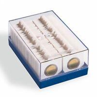 Coffret de rangement pour 100 pièces de monnaie de collection sous étuis carton