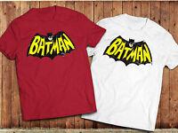 Retro Batman logo T-shirt, DC Comics, Superhero, Comic book. Gotham