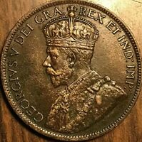1918 CANADA LARGE CENT PENNY COIN - Excellent example!