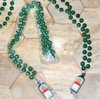 2 x Jägermeister USA Halskette Flaschen Anhänger Party Kette Perlen Partykette