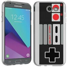 for Samsung Galaxy J3 Prime(NES Controller)Clear TPU gel skin phone case cover