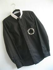 GIVENCHY   Men's Black PEARL BUTTON DOWN Slim Fit Floral Wreath Shirt   L