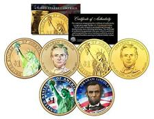 ABRAHAM LINCOLN 2010 Presidential $1 Dollar 3-COIN SET Gold Hologram Colorized