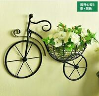 Metal Bicycle with flower Hanger Wall Art Yard Outdoor Lawn Garden Decor