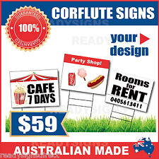 Custom Corflute Signs 900mm x 1200mm x 5mm  - Australian Made