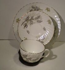 Royal Adderley 3pc Lyncroft Tea Cup Saucer & Luncheon Plate Made In England 003