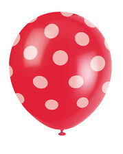 Red & White Polka Dots Balloons party decorations CHEAP Valentine Decorations