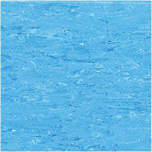 Vinyl Blue & Tile Effect Bathroom Flooring Lino Sheet Commercial Floor Roll