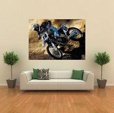 Yamaha Motocross Moto Nuevo Gigante impresión arte cartel Imagen Pared x1438