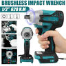 """1/2"""" 620Nm Cordless Impact Wrench Brushless Replacement For Makita 18V"""
