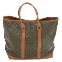 LOUIS VUITTON Monogram Sac Weekend GM Tote Bag M42420 LV Auth th722