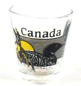 CANADA Canadian Goose Shot Glass Souvenir Barware Collectible